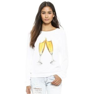WILDFOX Champagne Toast Baggy Beach Sweatshirt